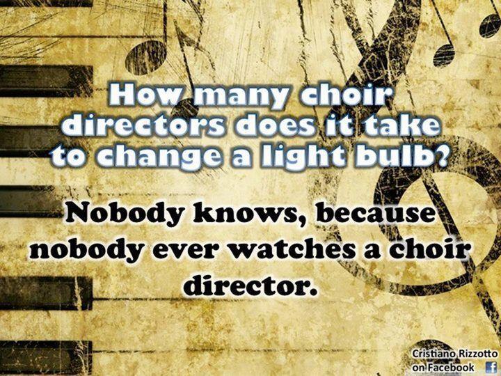 Choir Director ouch!