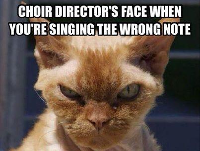 Choir Director's Face