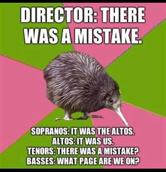 Sopranos- It was the Altos